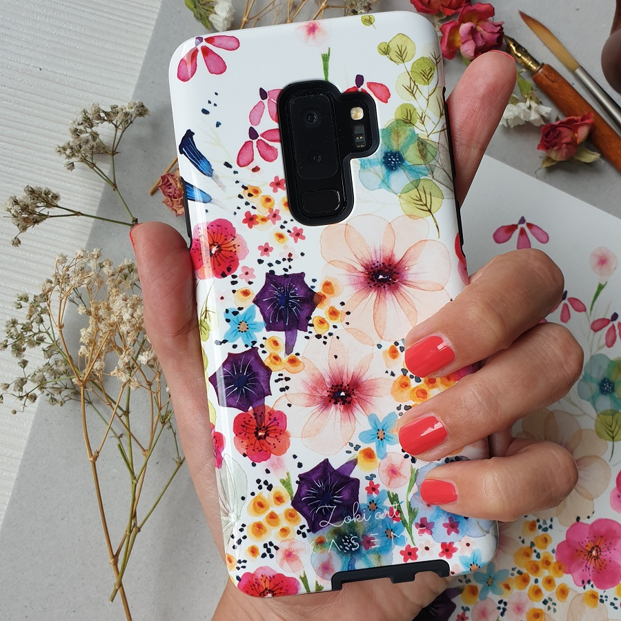 A phone case cover for Galaxy S9 phone
