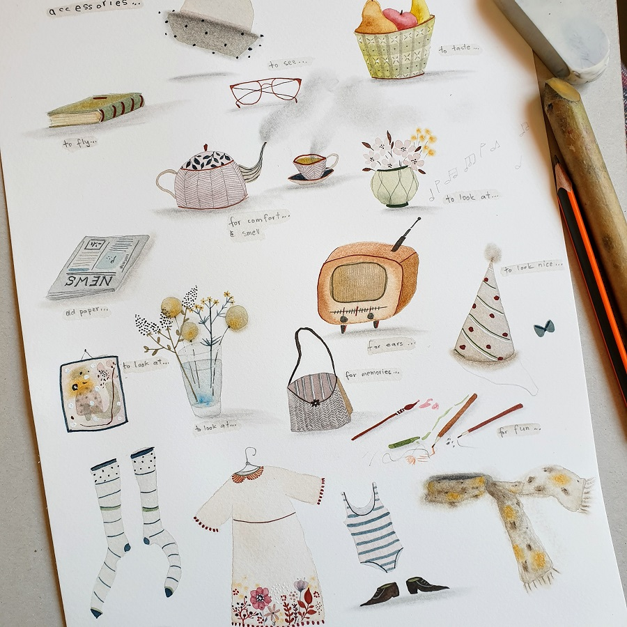Accessories sketches