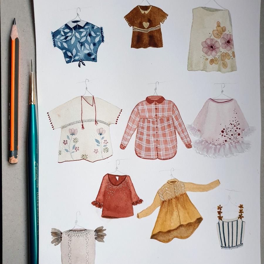 Children's clothing sketches
