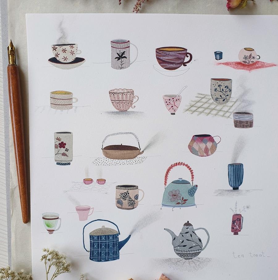 Tea pots sketches