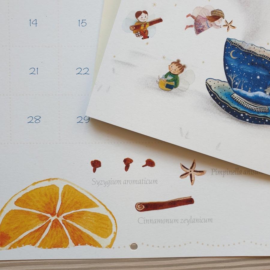 Inside of a calendar